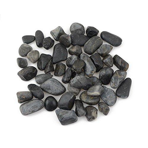 River Pebble Accents - CNZ Polished Gravel Black 5 Pounds 1