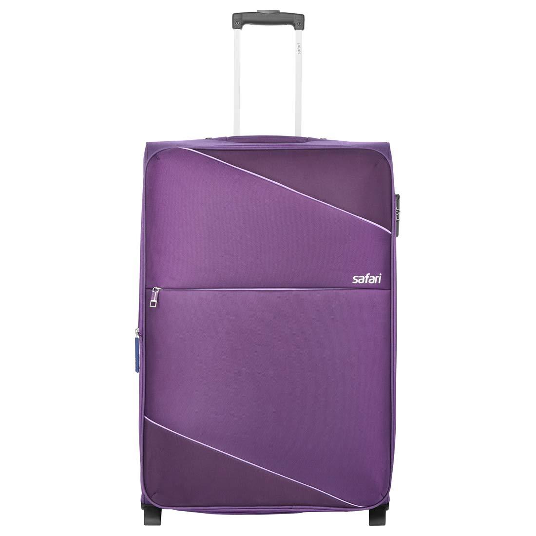 Safari Polyester 55 cms Purple Softsided Cabin Luggage (TILT552WPUR)