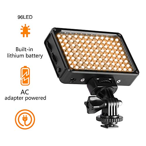 GVM LED on Camera Video Light with Bi-Color 3200K-5600K CRI97 + on Camera for Photo Studio Video, Canon, Nikon, Sony and Other DSLR for Photography from GVM Great Video Maker