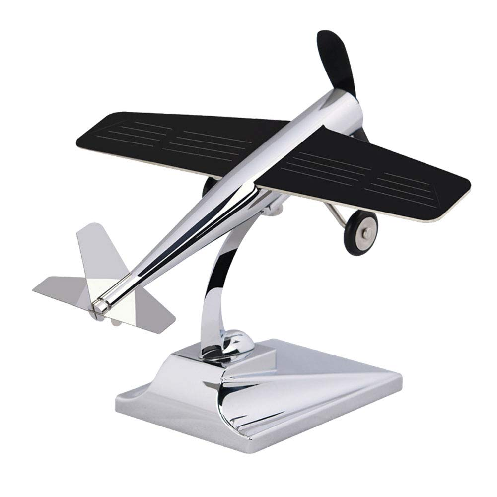 Ur HQCC Vintage Airplane Model Metal Handicraft, Car Decoration with Solar Wing for Car, Home, Office, Gift,A