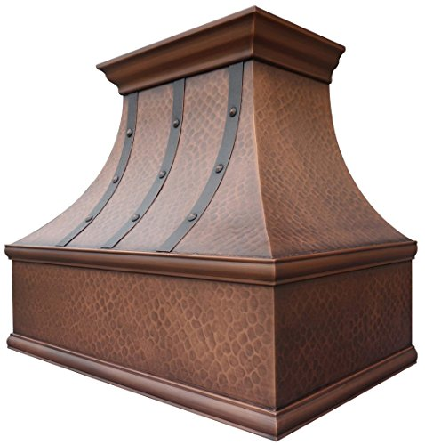 Copper Range Hood in Stock, Ready to Ship, 4-6 Working Days Delivery, Comes with Insert Liner & 610CFM Internal Motor Fan, Wall Mount 30