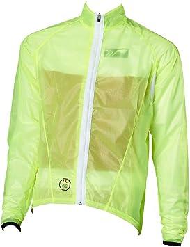Schnitt f/ür Damen Kinder in schwarz Herren Fahrrad Regenjacke transparent,extrem d/ünn Stoff: Zero Wind ist elastisch und wasserdicht k/örpernaher Schnitt enger atmungsaktiv wei/ß oder neon gelb prolog cycling wear