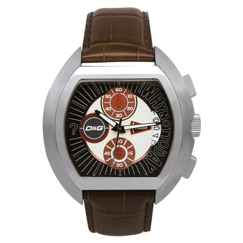 D&G Dolce & Gabbana Men's DW0213 Leather Synthetic with Brown Dial Watch