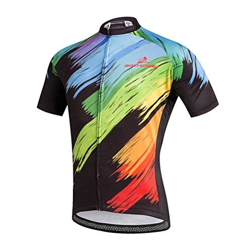 Uriah Men's Cycling Jersey Short Sleeve Brush Painting Size XXXL(CN)