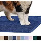 Gorilla Grip Original Premium Durable Cat Litter Mat, XL Jumbo, No Phthalate, Water Resistant, Traps Litter from Box and Cats, Scatter Control, Soft on Kitty Paws, Easy Clean Mats (Corner: Navy)