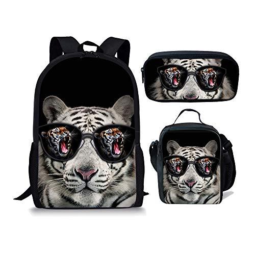 Moyen Cartable Fox Tiger 1 5 Noir 3pcs Chaqlin Iv8wqUU