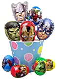 Marvel Avengers Easter Basket with Candy Filled Hero Tins and Eggs