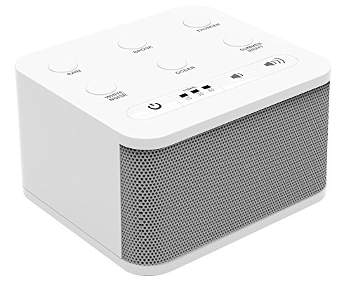 Big Red Rooster White Noise Machine - Sound Machine For Sleeping & Relaxation - 6 Natural and Soothing Sounds - Plug In Or Battery Powered - Portable Sleep Sound Therapy ()