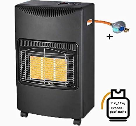 Cerámica Estufa de gas 4,2 kW Calefacción de gas estufa de gas por foco Katalyt horno tienda Calefacción 4200 W, incluye gasschauch y Reductor de presión ...