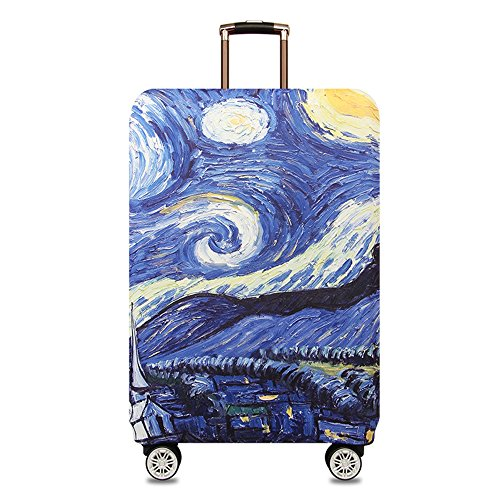 TRAVEL KIN Thickened Luggage Cover 18/24/28/32 Inch High Elastic Travel Suitcase Spandex Protective Cover (M(22