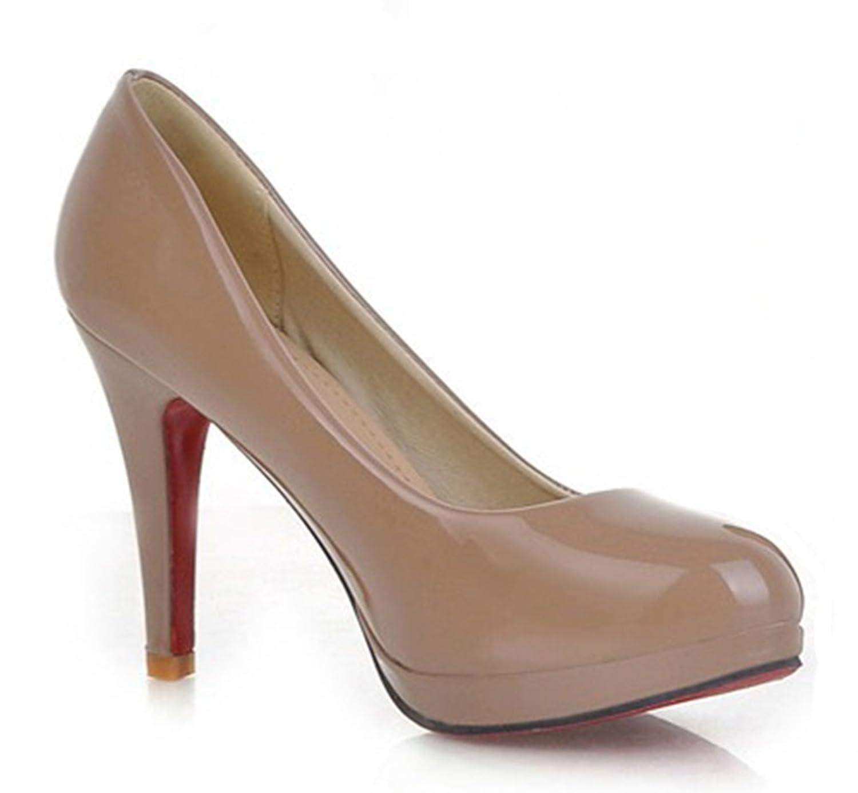 Aisun Damen Elegant Lackleder Runde Zehen Plateau Stiletto Ohne Verschluss  Pumps: Amazon.de: Schuhe & Handtaschen