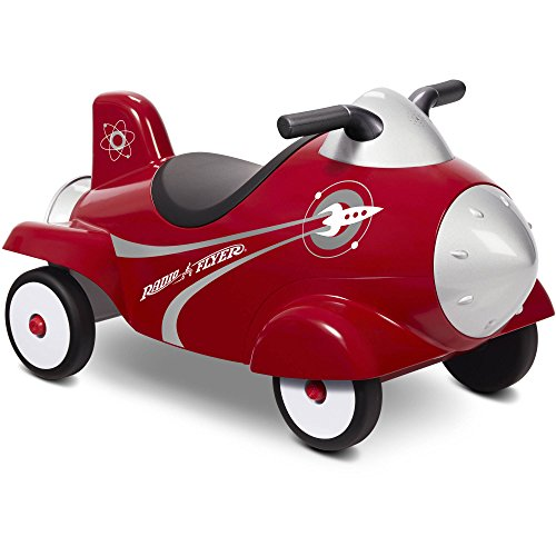Radio Flyer Retro Rocket Lights and Sounds Activity Ride-On Toy in Red (Radio Flyer Girls Big Flyer)