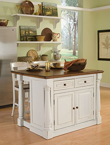 Home Styles Monarch Kitchen Island, Antique White Finish by Home Styles (Image #3)