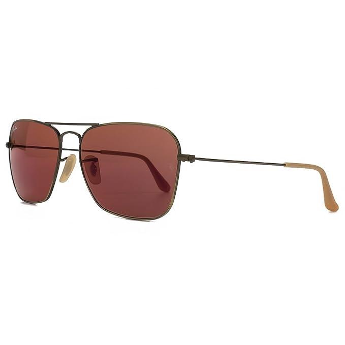Ray-Ban Caravana Plaza aviador gafas de sol de espejo rojo ...
