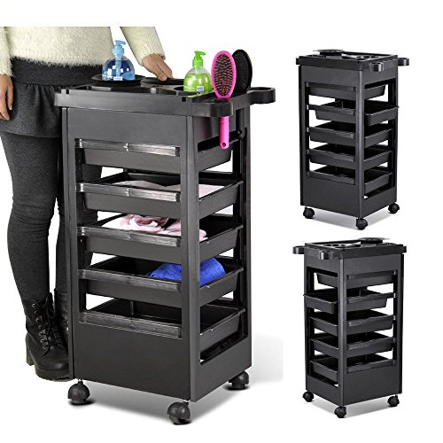 "32"" Hairdresser Spa Trolley Barber Beauty Storage Hair Rolling Cart Salon Tool from Unknown"