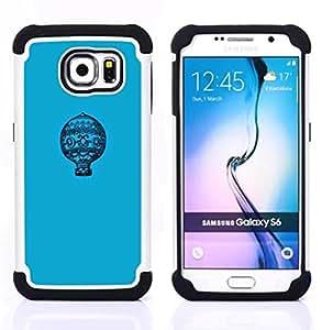 """Pulsar ( Modelo azul minimalista Vuelo"""" ) Samsung Galaxy S6 / SM-G920 SM-G920 híbrida Heavy Duty Impact pesado deber de protección a los choques caso Carcasa de parachoques [Ne"""