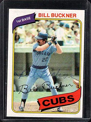 (Bill Buckner Signed Autographed 1980 Topps Baseball Card - Chicago Cubs)