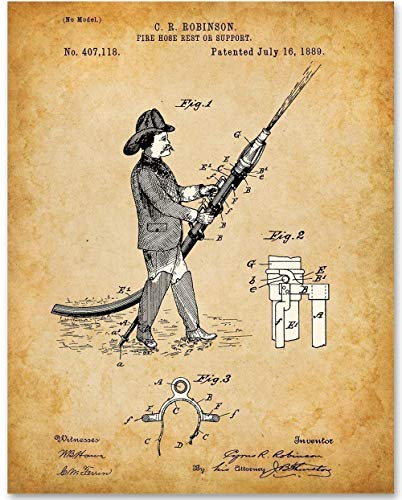 Fire Hose - 11x14 Unframed Patent Print - Makes Great Gift Under $15 for Firefighters