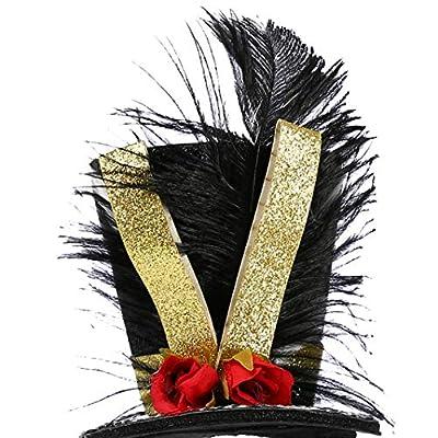 Tutu Dreams Nutcracker Headband Top Hat Ringmaster Glitter Ribbon Christmas Dance Recital Carnival (Top hat) Black: Clothing
