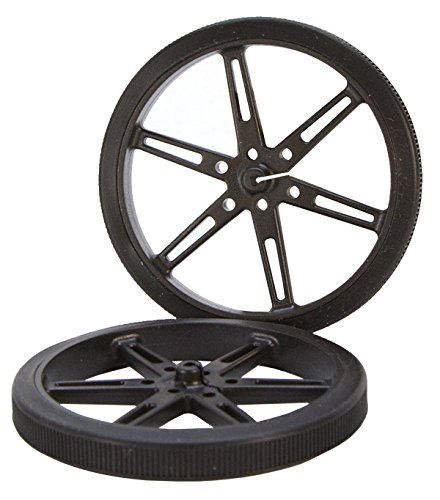 80 x 10mm Black Robot Wheels - Robot Black