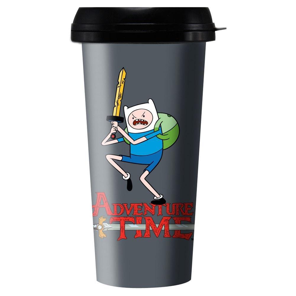 Plastic Travel Mug - Adventure Time - Finn w/ Logo 16 oz New ptmg-at-fn Classic Import 136344