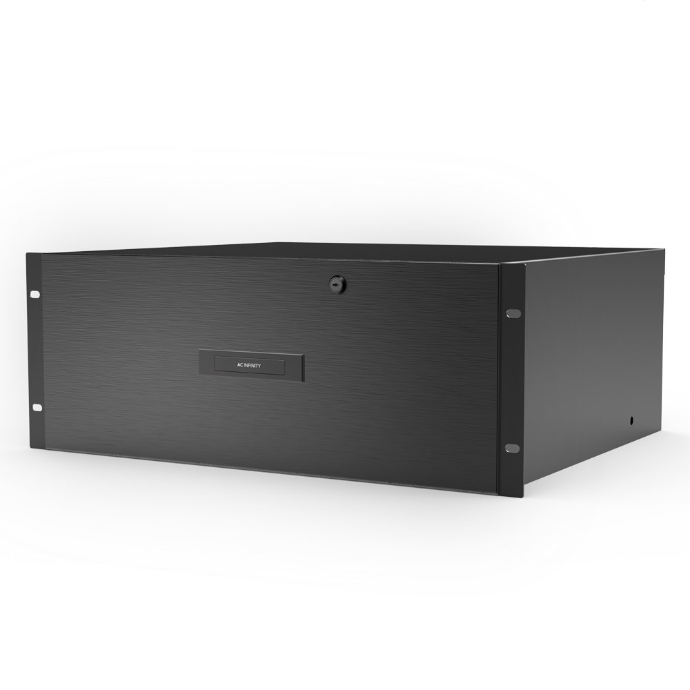 AC Infinity Rack Mount Drawer 3U with Aluminum Faceplate, with Lock and Key, for 19'' Equipment Server AV DJ Cabinets Racks