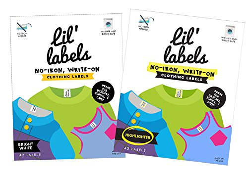 Lil Labels Clothing Labels, No-Iron, Washer Safe