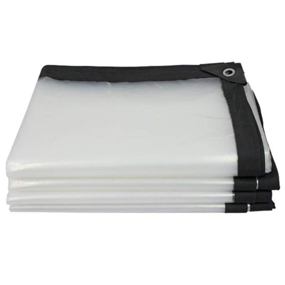1×2m YU-BY BÂche renforcée - Imperméable - RenforceHommest des Bords - Feuille de bÂche Transparente - Couverture de qualité supérieure en 120 g m²,4×6m