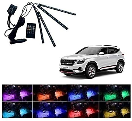 Neeb Traders Kia Seltos Car 12 Led Remote Interior Light Atmosphere Light Set Of 4 Amazon In Car Motorbike