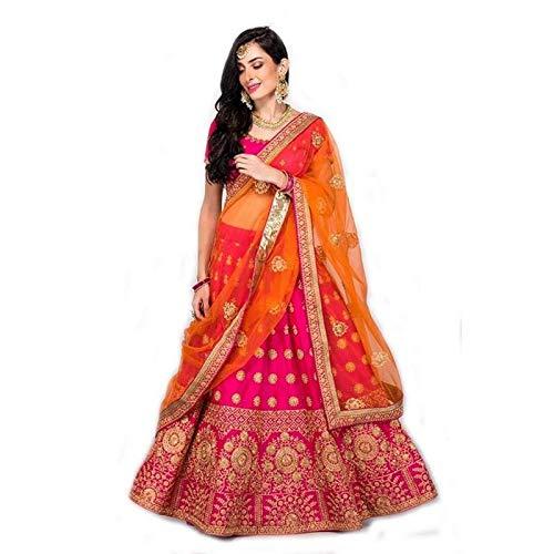 3aebf9fdda styllent fashion Women's Taffeta Silk Lehenga (Pink, Free Size): Amazon.in:  Clothing & Accessories