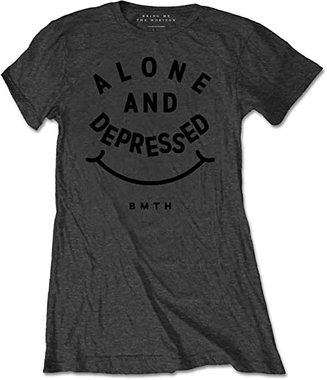 TALLA 44. Bring Me The Horizon Alone & Depressed Camiseta para Mujer