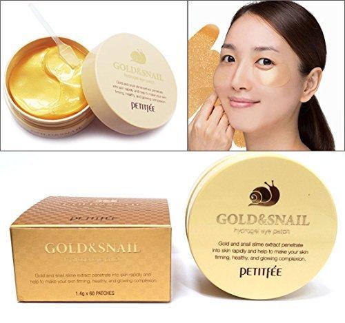 [PETITFEE] Gold & Snail Hydro Gel Eye Patch 60 pcs(30pairs) / dark circles,wrinkles / Korean Cosmetics