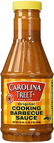 Carolina Treet Cooking Barbecue Sauce, Original Flavor, 18 Ounce.
