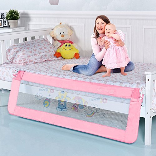 Toddler Bed Rail-Pink SBP-289 by COSTWAY (Image #1)
