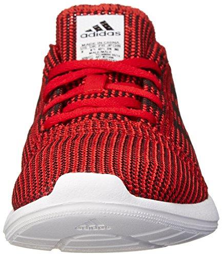 Adidas Performance Heren Element Verfijnen Tricot M Lifestyle Hardloopschoen Scarlet / Zwart 1 / Hardlopen Wit