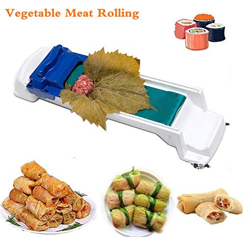 (Dolma Sarma Sushi Rolling Machine Vegetable Meat Rolling Tool for Stuffed Grape Leaves Vegetable Meat Roller and Sushi Rolls)