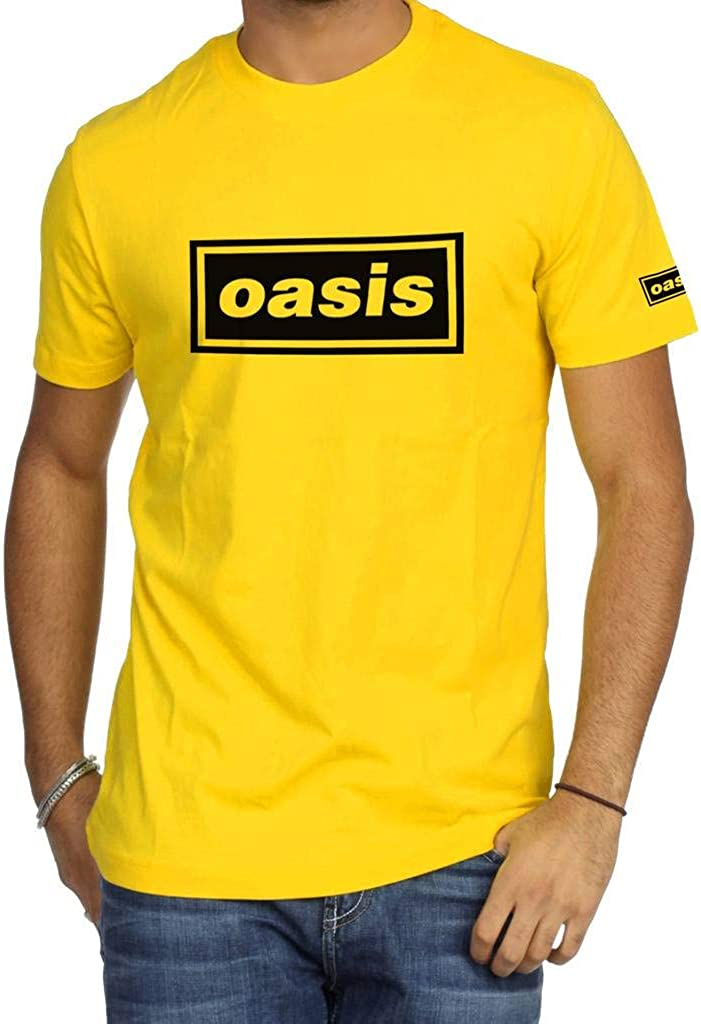 XXL Oasis Rock Band Logo T-shirt Liam Noel Gallagher Men/'s Novelty Tee Top S