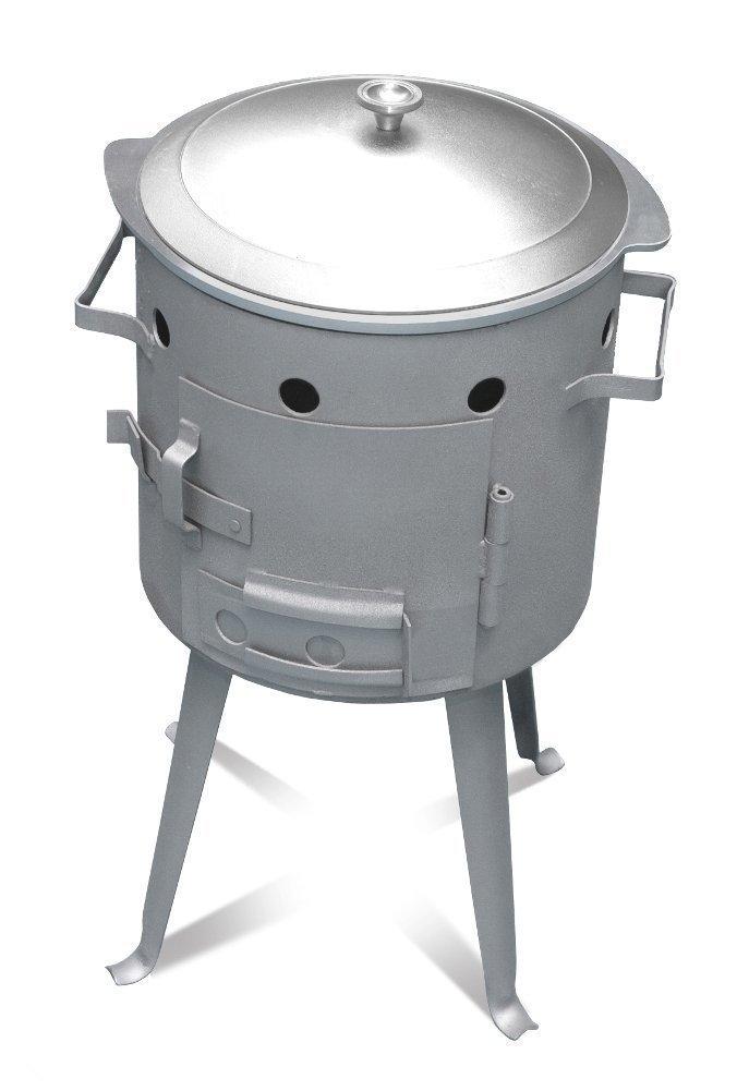 Utschak, H: 56 cm, Durchmesser: 32 cm, für 7L Kasan / Feldküche, Gulaschkessel Feuerkessel Kessel Outdoor