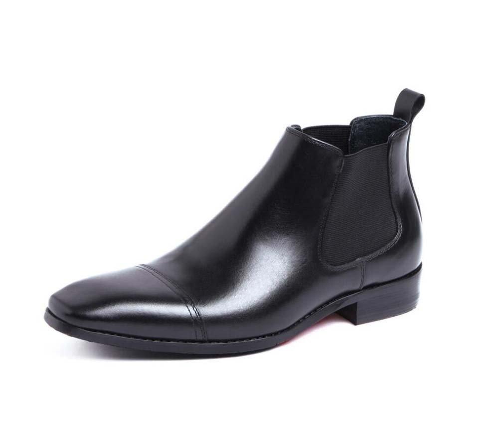 GLSHI Herren Stiefeletten Schuh Rindsleder, Business-Kleid Schuhe Atmosphäre Hat 37 Yards zu Schaffen