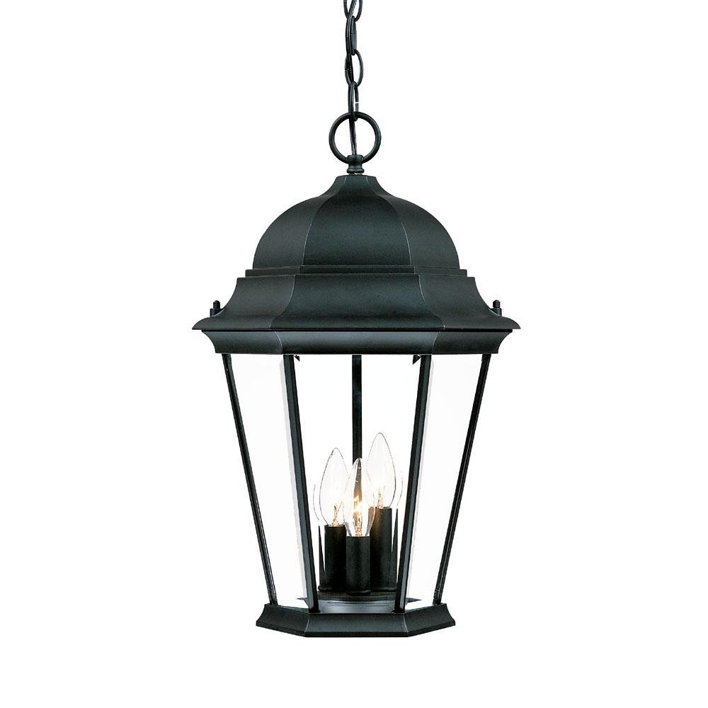 Acclaim 5226BK Richmond Collection 3-Light Outdoor Light Fixture Hanging Lantern, Matte Black