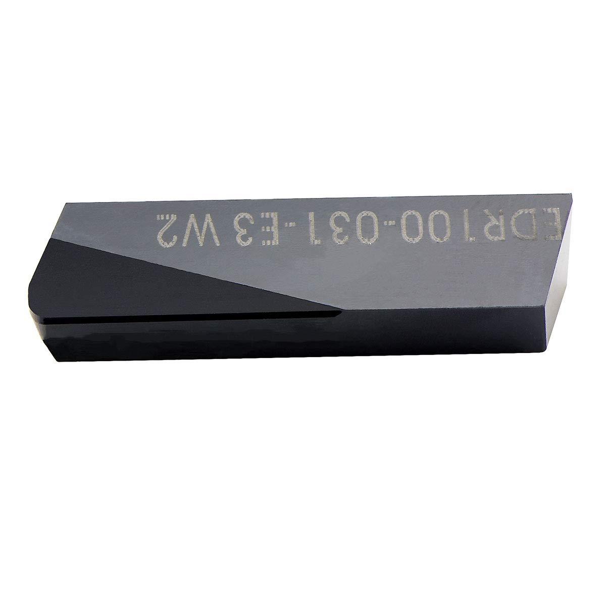 MAXTOOL 10PCs EDR100-062-E3-W4P10 ENDMILL PCD Tip Milling Inserts Polycrystalline Diamond Grade 1500