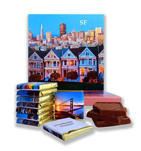 DA CHOCOLATE Candy Souvenir SAN FRANCISCO Chocolate Gift Set 5x5in 1 box - Gift The Francisco Center San