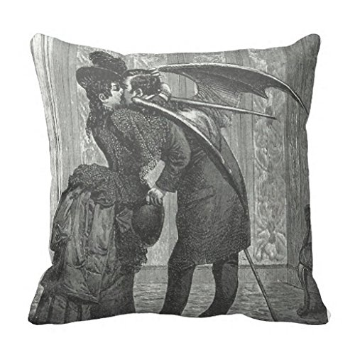 Vampire Kiss Victorian Gothic Decorative Pillow Case