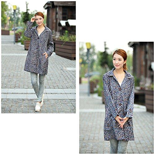 Filles Femmes Pour Poncho Floral Style Sweet Bozevon Imperméable Jacket 02 Pluie 6nfw76Bqp