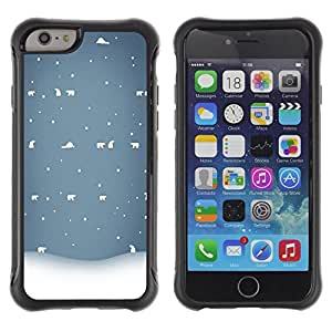 Suave TPU GEL Carcasa Funda Silicona Blando Estuche Caso de protección (para) Apple Iphone 6 PLUS 5.5 / CECELL Phone case / / Winter White Blue Nostalgic /
