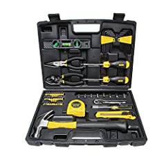 The STANLEY 94-248 65 Piece Homeowner's DIY Tool Kit is a must-have tool set with everything you need to tackle a variety of tasks around the house. Whether you're doing basic repairs, hanging pictures or cutting through boxes, this tool kit ...