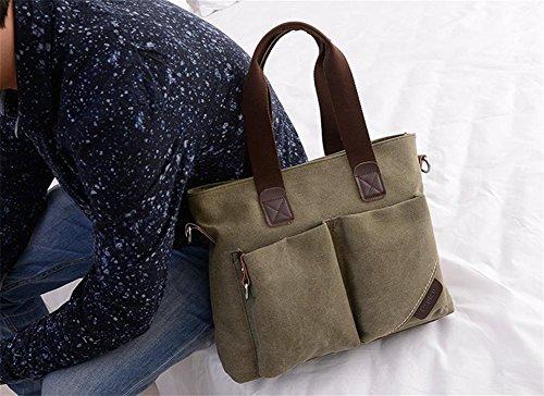 pengweiCasual lona hombro Messenger Bag bolsa de gran capacidad retro , 2 2