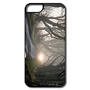PTCY IPhone 5/5s Personalized Vintage Foggy Road Tangled Trees