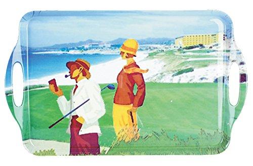 PGA Beachside Golf bandeja para servir, verde, 19x 113/4'