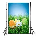 YJYdada Easter Day Theme Vinyl Photography Backdrop Custom Photo Background Props (N)